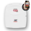 Central de alarme monitorável para até 99 zonas com entrada para linha telefônica.