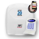 Central de alarme monitorável até 22 zonas com módulo ethernet integrado e acesso via aplicativo celular.