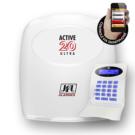Central de alarme monitorável para até 22 zonas e acesso via aplicativo celular.
